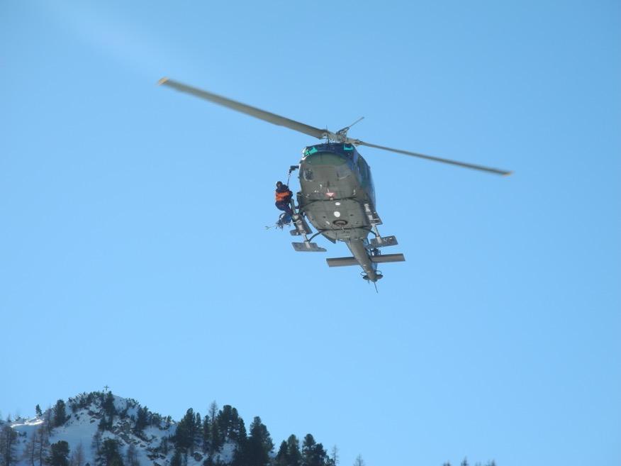 Hubschrauber Bergrettung